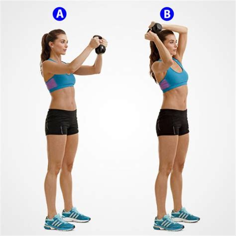 kettlebell halo dumbbell arm holding six stand anatomy raise front