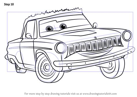 cars characters drawings learn how to draw rusty rust eze from cars 3 cars 3 step