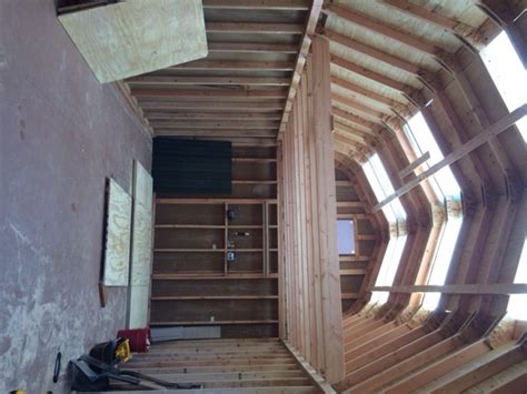 barn style shed with loft 12 215 24 barn style gambrel shed construction photo series