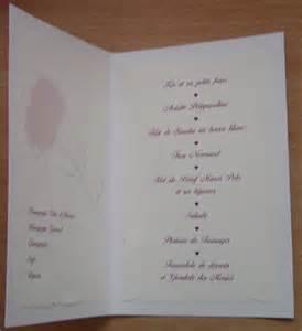 menus de mariage idées menus mariage
