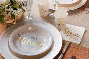 Serviette De Table Blanche : serviette cocktail retraite blanche et or x20 ref 5649 ~ Teatrodelosmanantiales.com Idées de Décoration