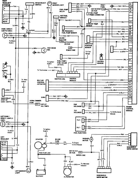 Gm Truck Light Wiring Diagram by I A 1987 Gmc V1500 With 305 Fuel Injection My