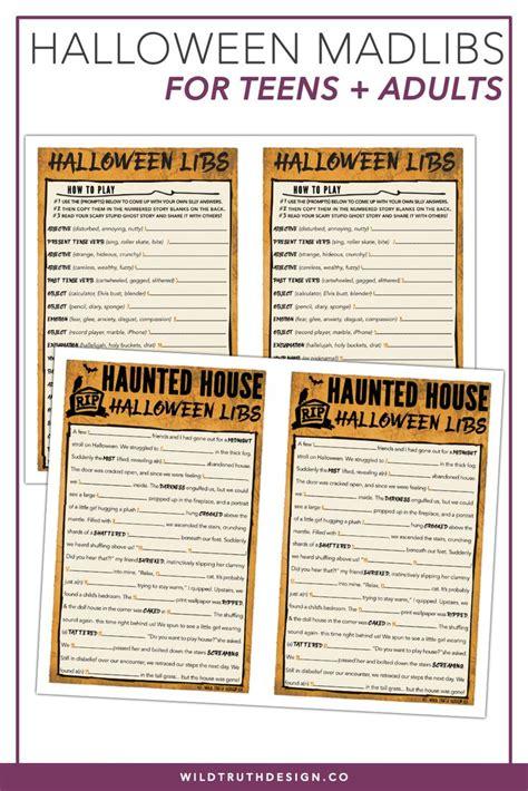hilarious halloween mad libs game adults teens