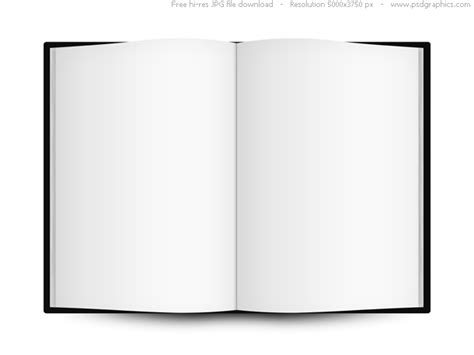 Blank Open Book Template Psdgraphics