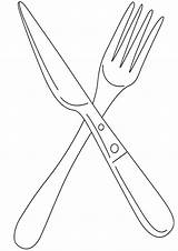 Knife Coloring Pages Print sketch template