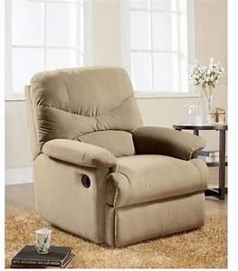 Contemporary Arcadia Recliner Microfiber Chair Deluxe