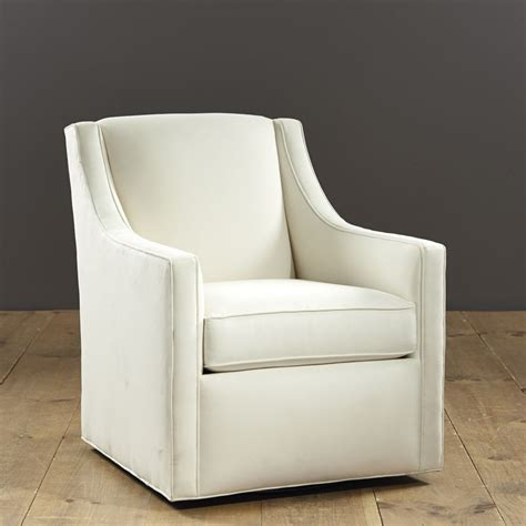 Small Scale Upholstered Living Room Chairs by Carlyle Swivel Chair Ballard Custom Fabric 680
