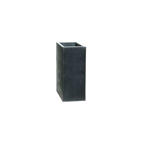 grand pot carr 233 cubihi en zinc noir l33 h70 plantes
