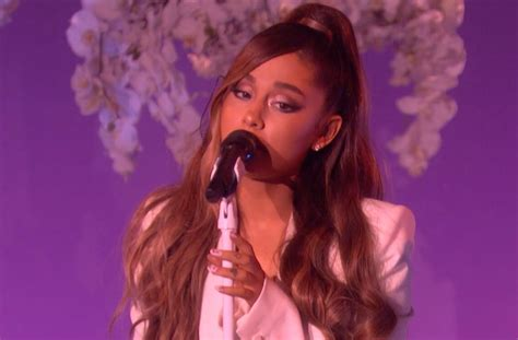 Ariana Grande Cries While Singing 'thank U, Next' On 'the
