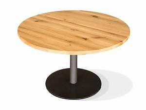 Holzplatte Rund 100 Cm : gastro esstisch rund eiche lackiert 100 cm ~ Bigdaddyawards.com Haus und Dekorationen