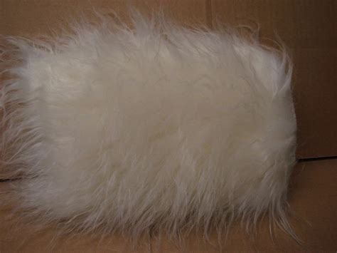 fts streamer hair craft fur 8 quot x 10 quot new hair white faux fur pile plush sew