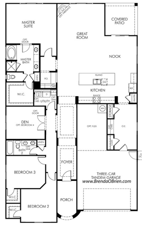 meritage homes floor plans az meratige rancho vistoso floor plan fremont model
