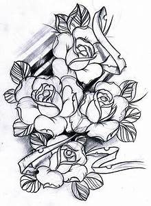rose tattoo sketch | Tumblr