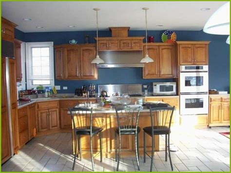 wood color paint for kitchen cabinets 21 lovely kitchen color ideas with oak cabinets stock 2131