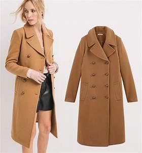 Manteau en laine et cachemire pour femme