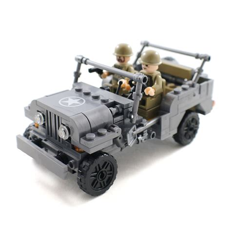 army jeep ww2 ww2 us army jeep with soldier minifigures and 50 similar