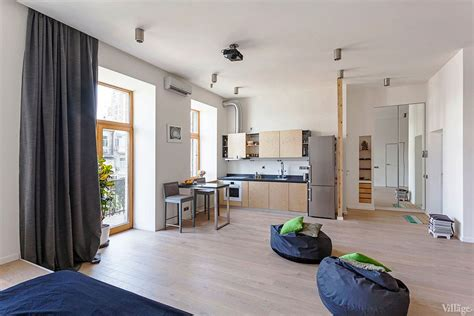 open studio apartment in kiev by fild homedsgn