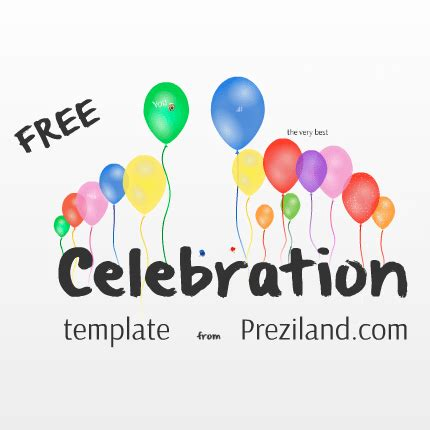 Prezi Birthday Template by Free Prezi Template Celebration Preziland
