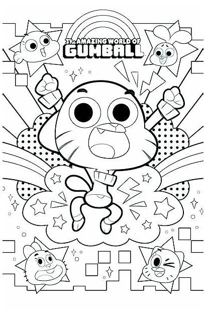 Gumball Coloring Amazing Pages Drawing Boom Studios
