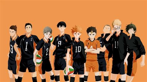 haikyuu karasuno volleyball team   wallpaper