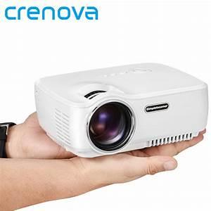 Crenova Mini Portable Led Projector Support Full Hd 1080p