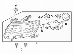 Chevrolet Colorado Headlight Assembly  Colorado  Projector