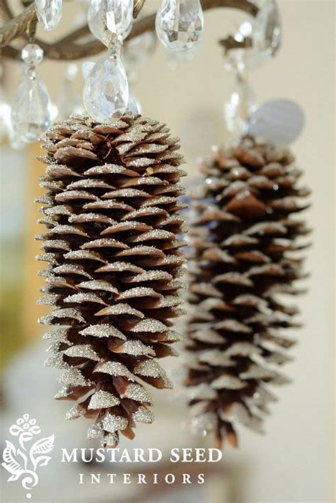 festive diy pine cone crafts for your decoration for creative juice
