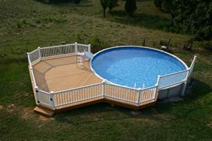 Above Ground Pool Deck Images Simple Above Ground Pool Decks Design Open Field White Fence