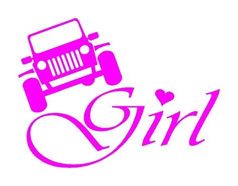 jeep stickers for girls girls pink vinyl decal mud 4wd 4x4 sticker fits jeep cj yj