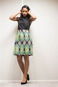 robe 2 tons en pagne classique jm enzo r dos With robe en coton pour femme