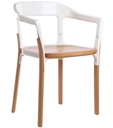 magis furniture steelwood chair in natural beech magis milia shop
