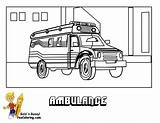 Ambulance Coloring Transportation Pages Service Colouring Police Fire Boys Yescoloring Cars Trucks Paramedics Ic sketch template