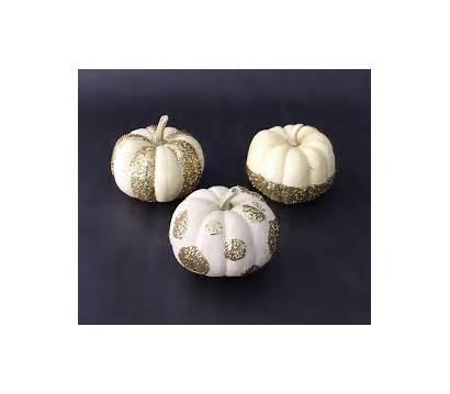 Glitter Pumpkins Diy Pumpkin Elegant Easy Chic