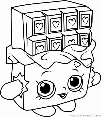 Shopkins Coloring Chocolate Pages Cheeky Candy Drawing