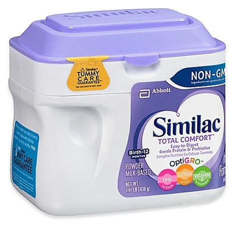 total comfort formula similac 174 total comfort 174 22 5 oz non gmo large size powder