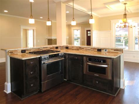 kitchen island with oven island with jennaire downdraft stove and counter