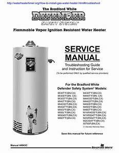 Service Manual Flammable Vapor Ignition Resistant Water