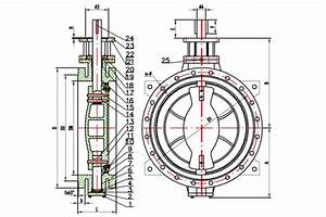 Fig  F600 Double Flanged Butterfly Valve Dn50