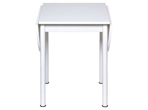 conforama table de cuisine table avec allonges rabattables flipp coloris blanc