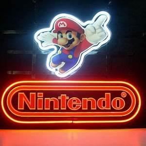New Nintendo Super Mario Real Glass Neon Light Sign Home