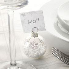 shimmering snowflake bauble place card holders 6 snowflake place cards ebay