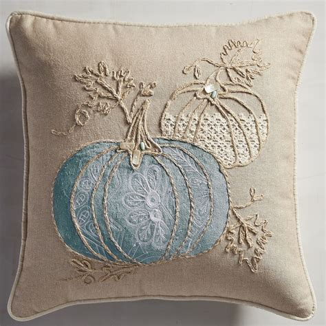 pier one blue throw pillows fall by the sea pumpkins pillow everything turquoise