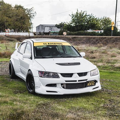 mitsubishi evolution mitsubishi evolution widebody kit by clinched fits evo7