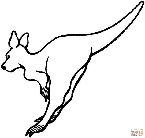 leaping kangaroo coloring page  printable coloring pages