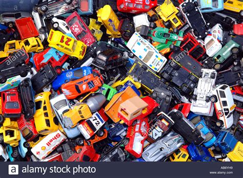 small toy cars a box full of small toy cars for sale at a car boot sale