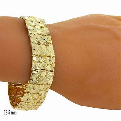 Bracelet Gold Nugget Solid 10k Grams 14k