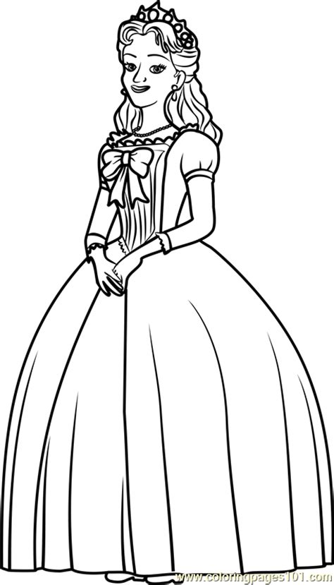 queen miranda coloring page  sofia