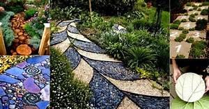 Gartenwege Anlegen Ideen : 42 kreative upcycling ideen wie man den eigenen gartenweg anlegen kann ~ Markanthonyermac.com Haus und Dekorationen