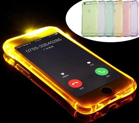 phone call flash light 2016 fashion new soft tpu led flash light up case remind