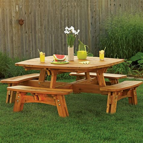 square picnic table plan rockler woodworking  hardware